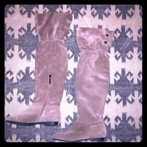 Calvin Klein Suede over the knee Boots Size 8.5